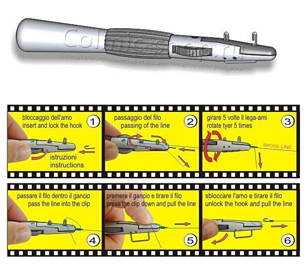 Art448p приспособление для привязывания мелких крючков 14 28