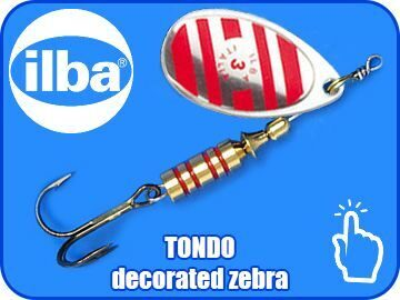 TONDO decorated zebra p